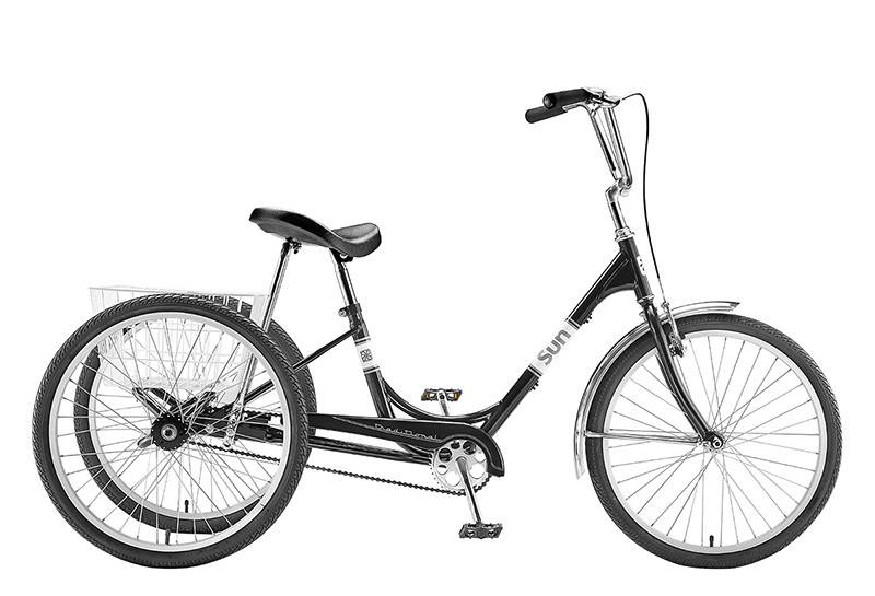 SUN BICYCLES TRIKE SUN ADULT P-BK 24 ALY WHL*w/WH BAS