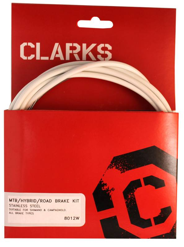 CLARKS CABLE BRAKE CLK KIT F+R SS SPT RD/MT WHT