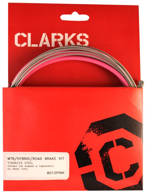 CLARKS CABLE BRAKE CLK KIT F+R SS SPT RD/MT PNK