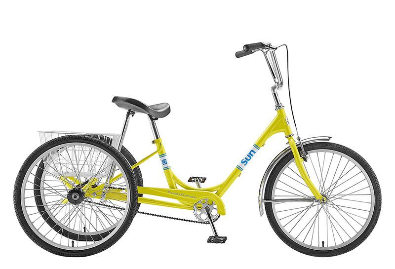 SUN BICYCLES TRIKE SUN ADULT P-YL 24 ALY WHLW/WHITE BASKET* (F)