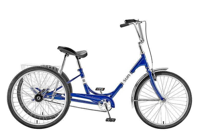 SUN BICYCLES TRIKE SUN ADULT P-BU 24 ALY WHL*w/WH BASKET* (F)