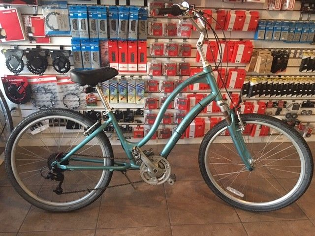 JRA BICYCLE COMPANY USED ELECTRA TOWNIE LADIES