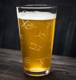 Cognitive Surplus Pint Glass - Feynman Diagrams