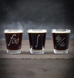 Cognitive Surplus Shot Glass Set - Calculus