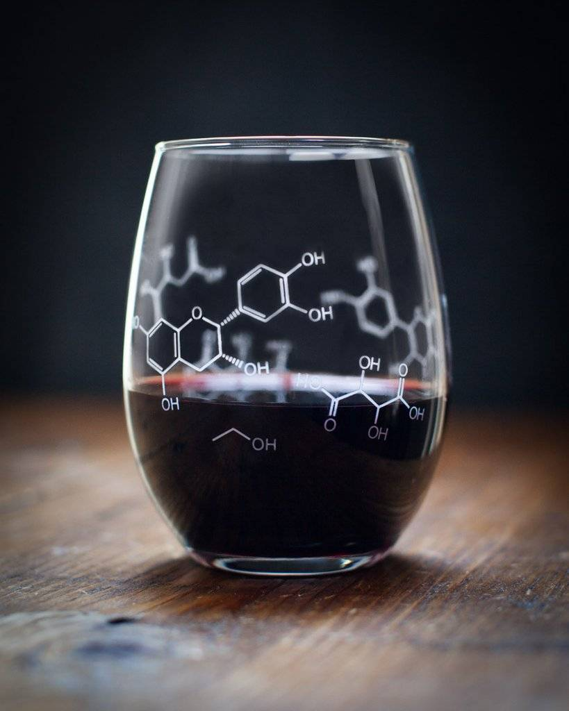 Cognitive Surplus Wine Glass - Chemistry of Wine