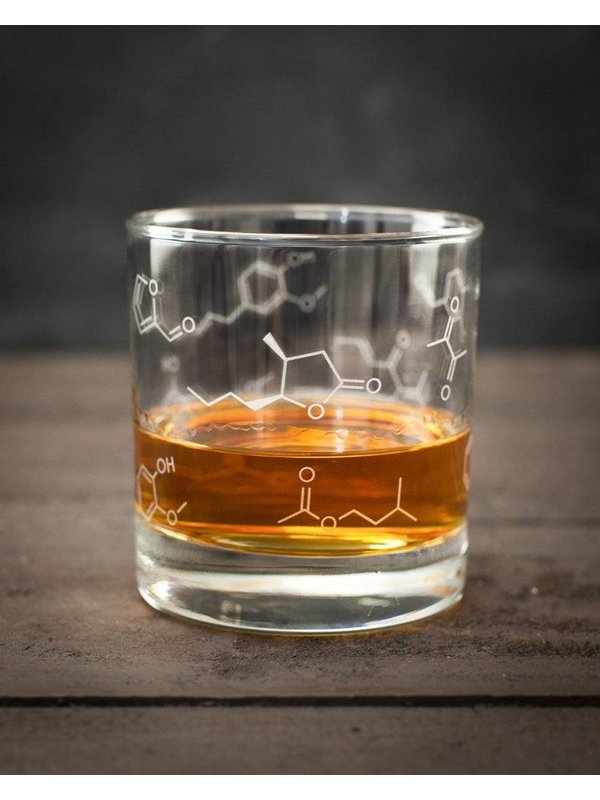 Lowball Glass - Chemistry of Whiskey