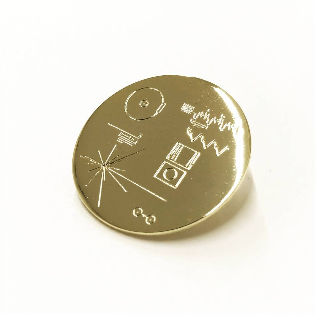 Voyager Record Cover Enamel Pin