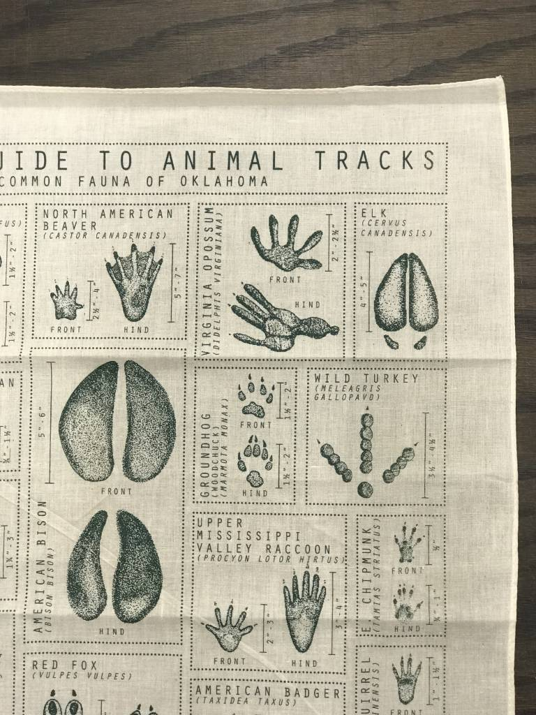 Animal Tracks Field Guide Bandana