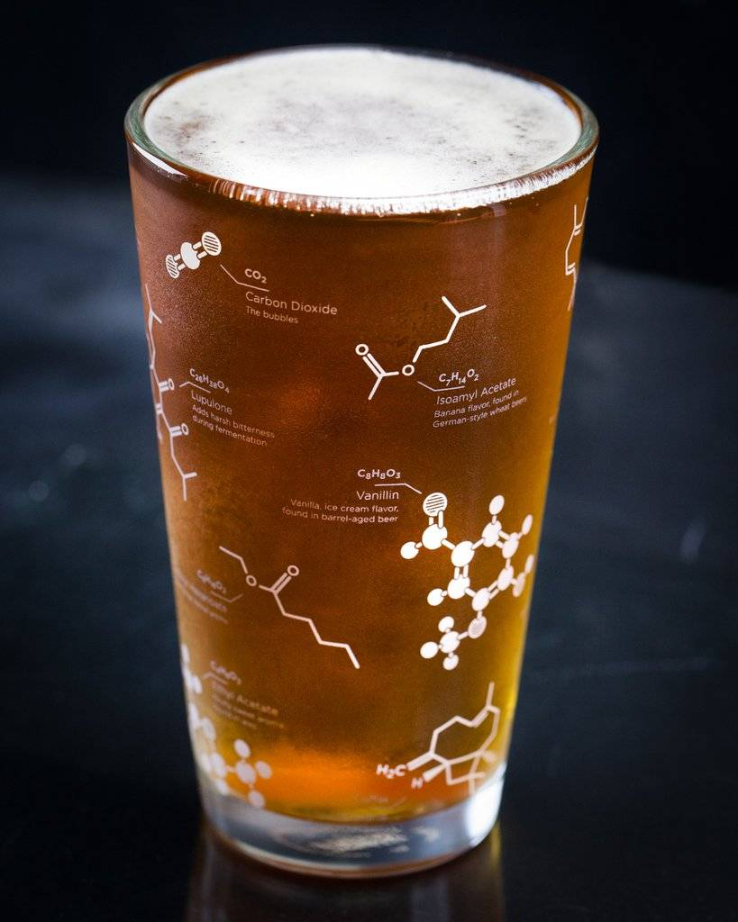 The Science of Beer Pint Glass Set