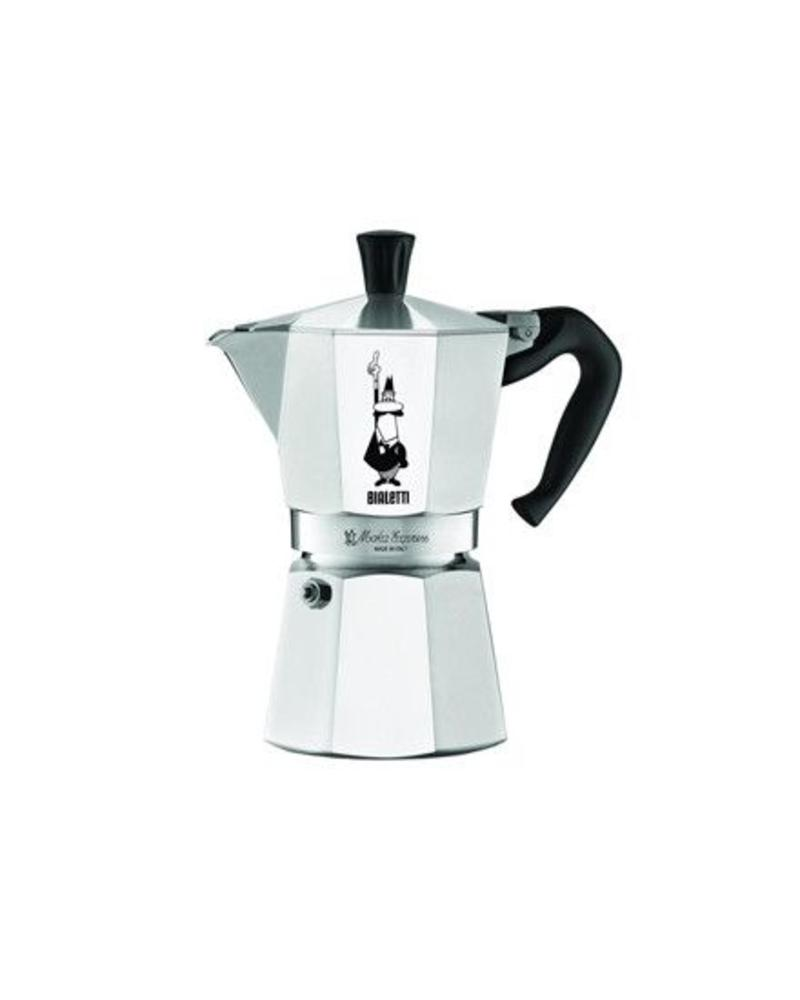 BIALETTI BIALETTI MOKA EXPRESS STOVETOP ITALIAN ESPRESSO COFFEE MAKER, AVAILABLE IN 6 OR 9 CUPS, RED OR SILVER