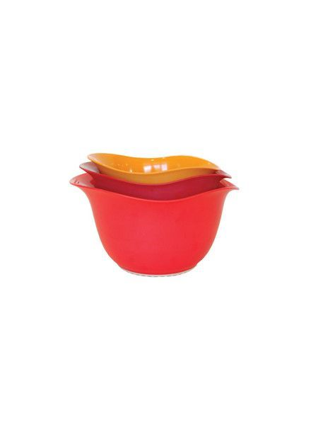 ARCHITEC HOUSEWARES ARCHITEC HOUSEWARES 3 PC MIX BOWL SET ECO RED