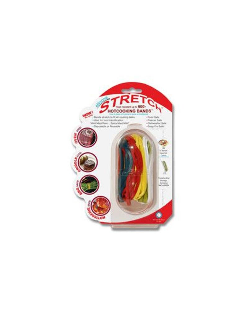 ARCHITEC HOUSEWARES REUSABLE SILICONE STRETCH COOKING BANDS BY ARCHITEC HOUSEWARES, ASSORTED COLORS | SCBMP