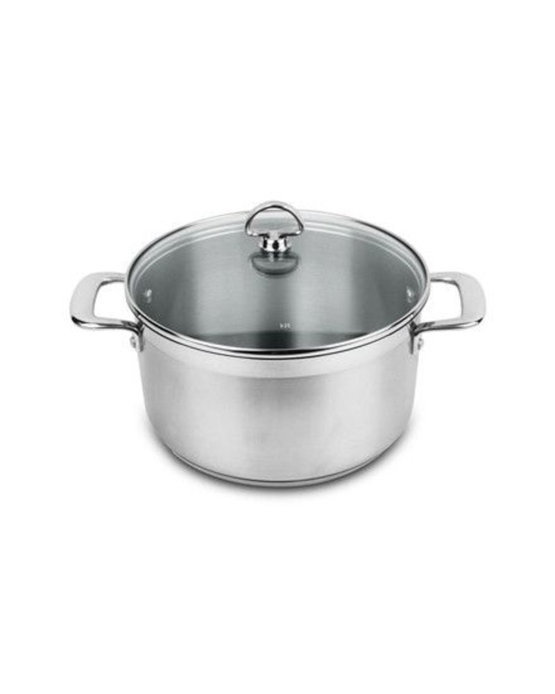 CHANTAL INDUCTION 21 STEEL 6 QT CASSERIOLE PAN WITH LID FROM CHANTAL  | SLIN32-240