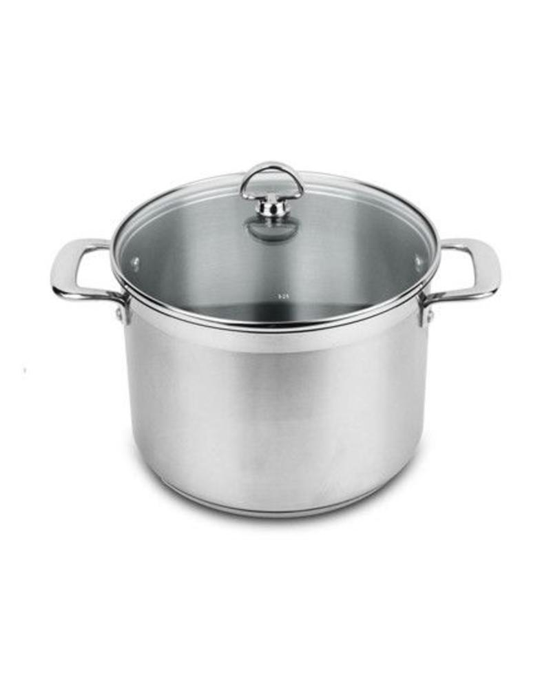 CHANTAL INDUCTION 21 STEEL 8 QT STOCK POT WITH LID FROM CHANTAL | SLIN33-240
