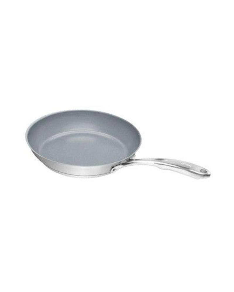 CHANTAL INDUCTION 21 STEEL FRY PAN,  MULTIPLE SIZES AVAILABLE, STAINLESS STEEL OR NON-STICK CERAMIC COATING FROM CHANTAL