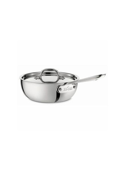 All-Clad Stainless Steel 2-Quart Saucier Pan with Lid