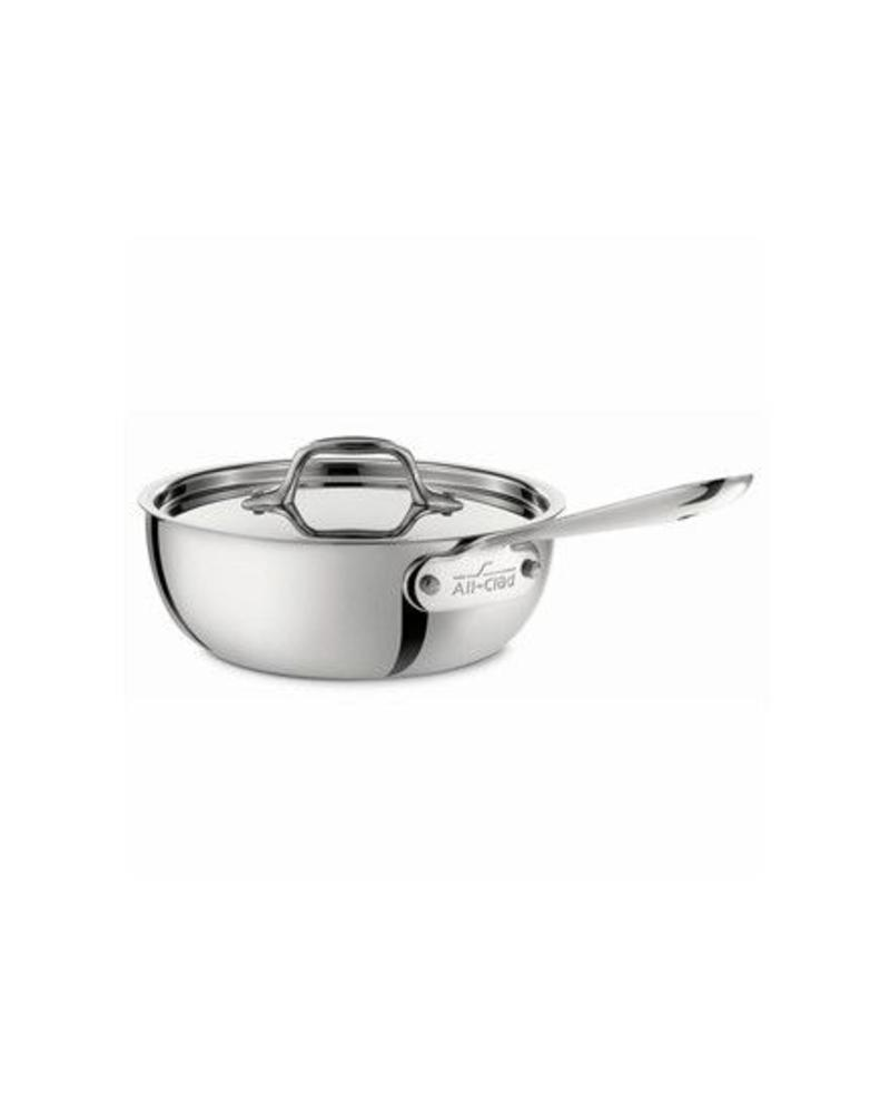 ALL-CLAD 2 QUART TRI-PLY STAINLESS STEEL SAUCIER WITH LID | 4212