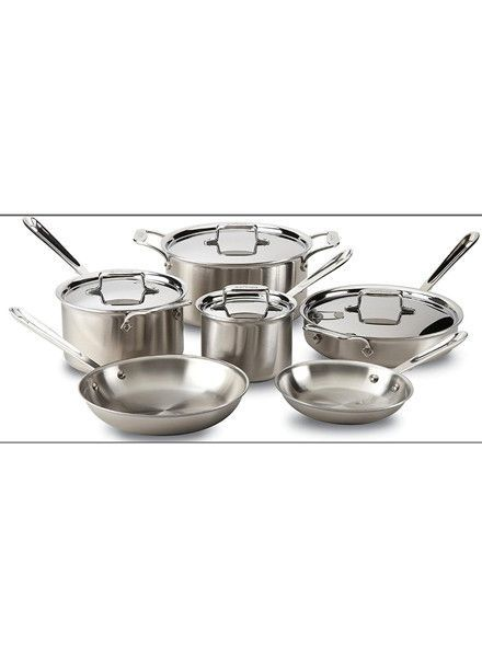 ALL-CLAD STAINLESS STEEL 10PIECE SET D5