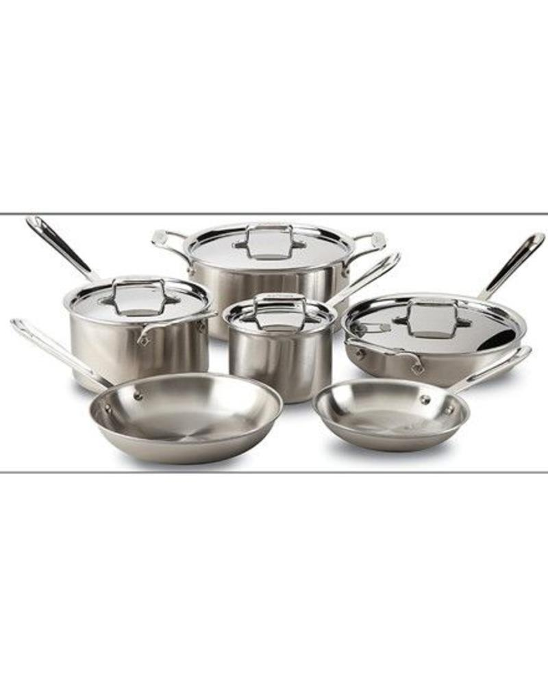 ALL-CLAD ALL-CLAD STAINLESS STEEL 10 PIECE SET 5-PLY CONSTRUCTION