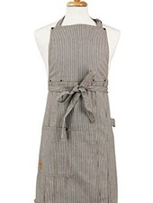 ASD LIVING APRON ADULT BUTCHER RAILROAD STRIPE