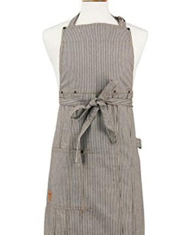 ASD LIVING ADULT BUTCHER APRON WITH RAILROAD STRIPE | 01-275