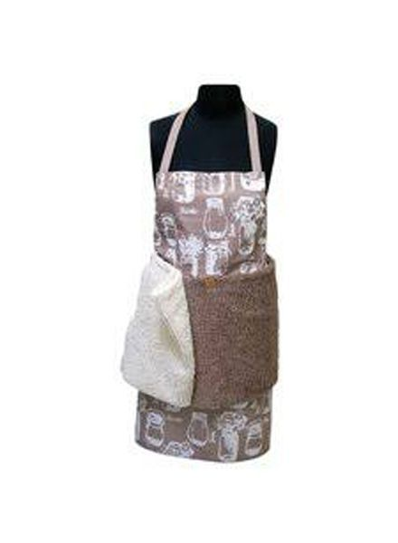 JANEY LYNN JANEY LYNN APRON W/ REMOVABLE SHAGGIE TOWELS