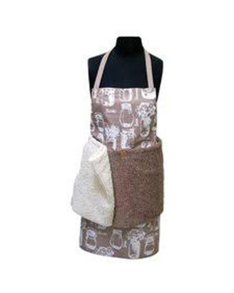 JANEY LYNN JANEY LYNN APRON WITH REMOVABLE SHAGGIE TOWELS