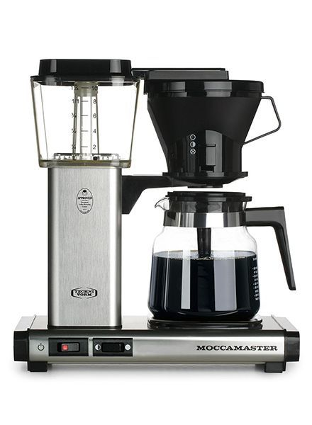 Moccamaster Moccamaster KB Brushed Silver Manual Adjust Drip Coffee Brewer