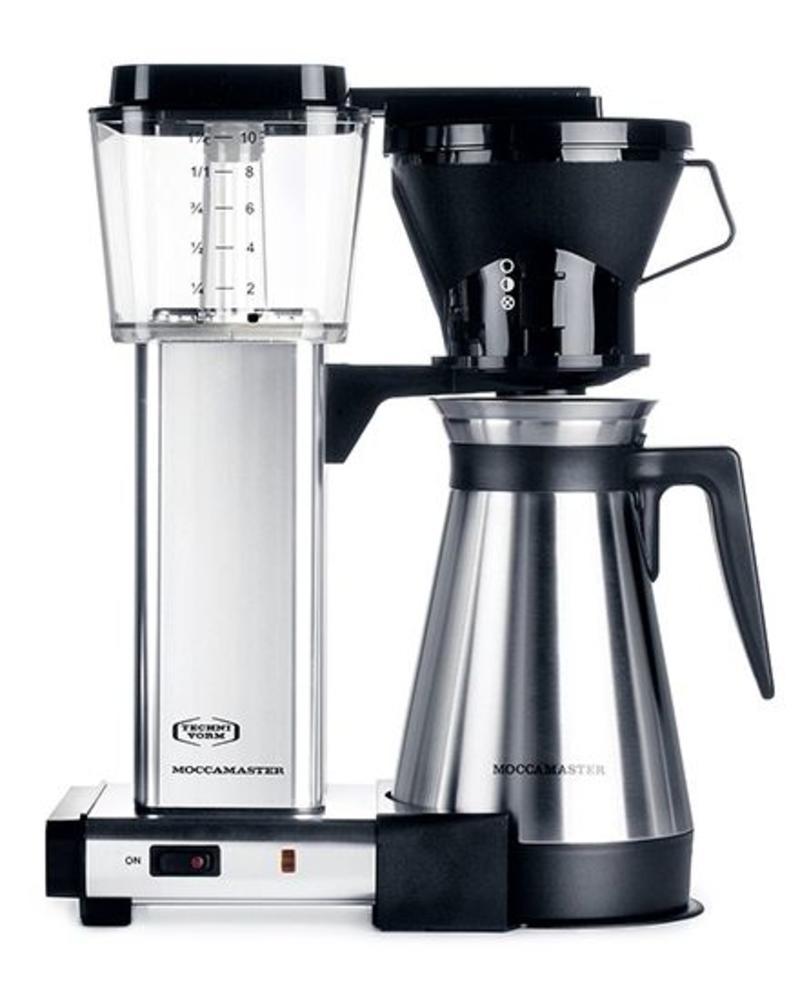 Moccamaster KBT Polished Silver Manual Adjust Drip Coffee Brewer ...