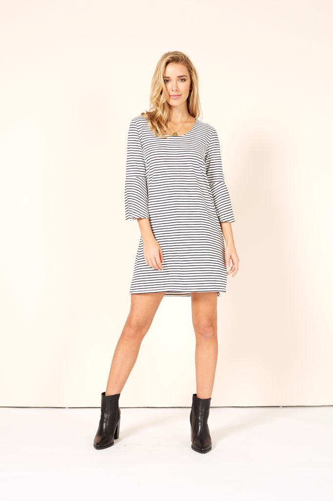 Mink Pink Staycation Flare Sleeve Dress