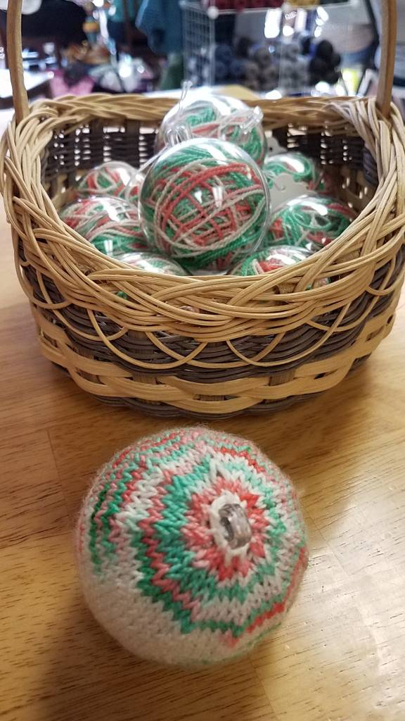 Knitted Christmas Ornament - Kelly
