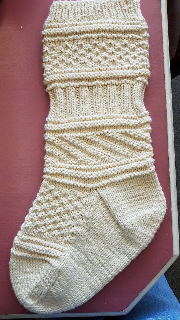 Knitted Christmas Stocking - Kelly