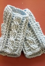 Crocheted Cabled Mittens