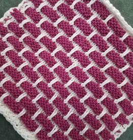 Knitted Ballband Dishcloth