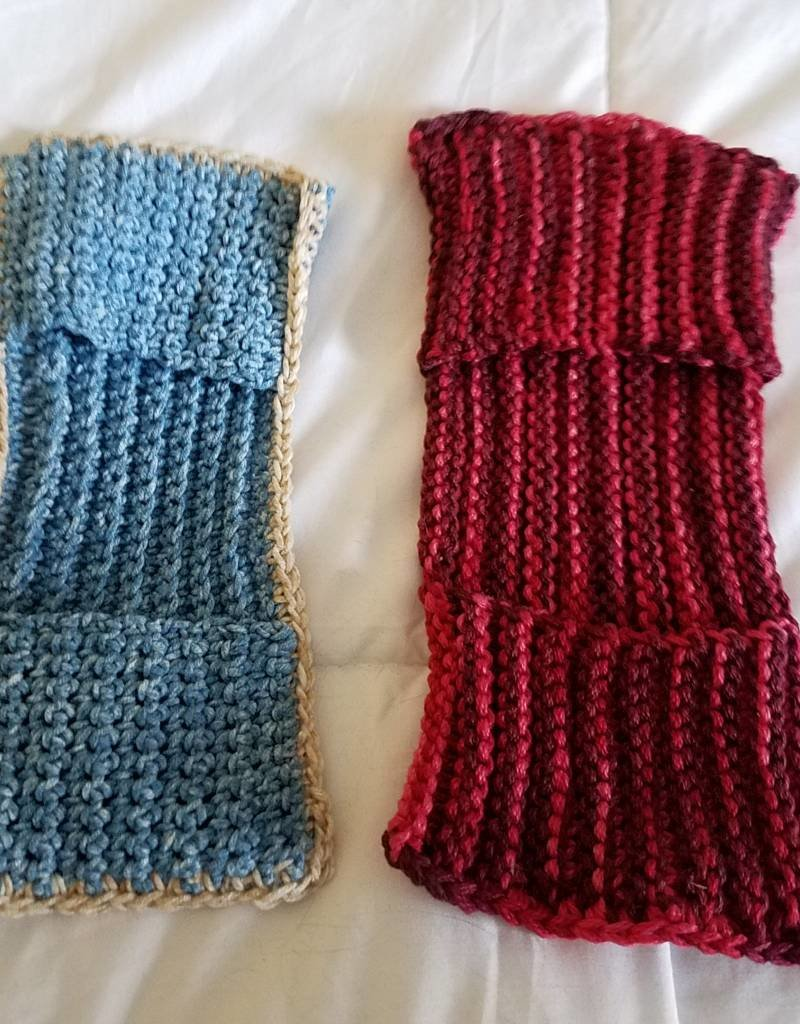 Crochet & Knitted Duster Cover and Dust Mitt