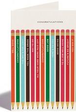Congratulations Pencil Card