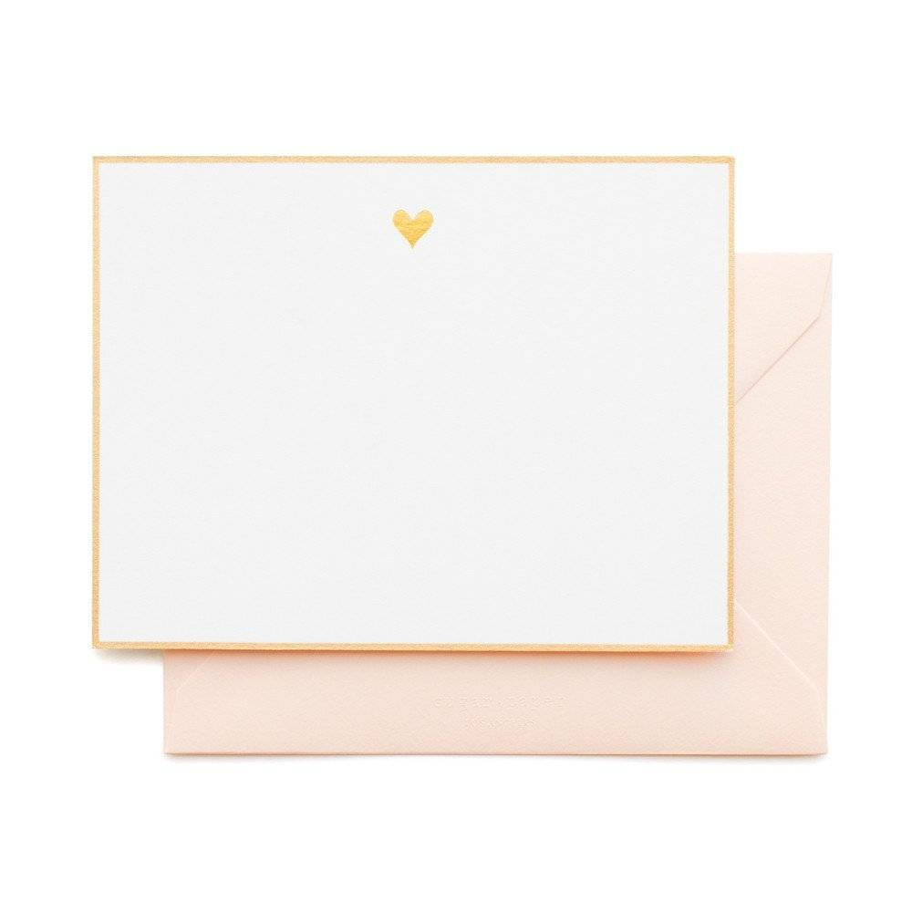 Gold Heart Note Set