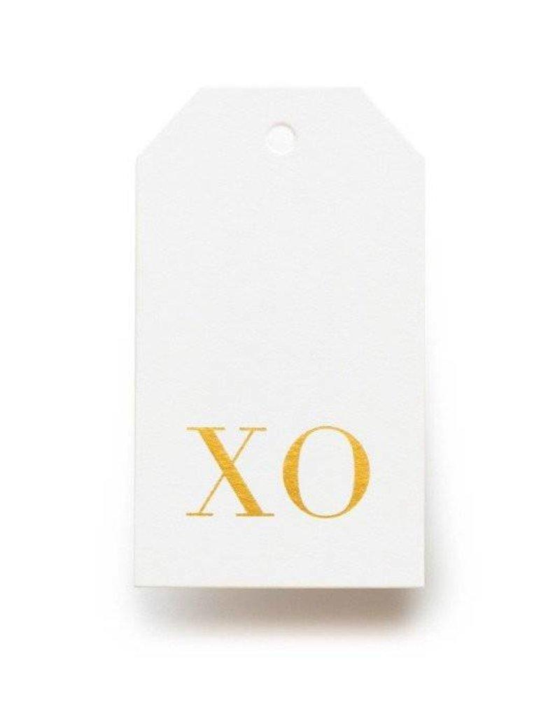 Gold XO Tag