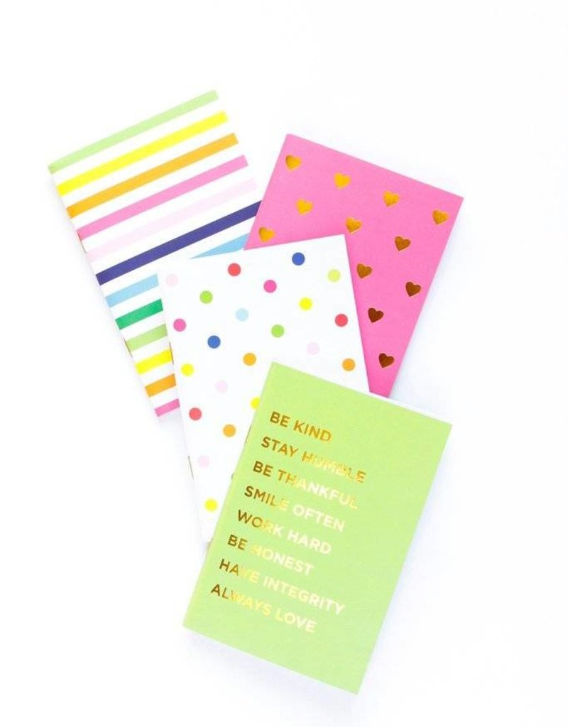 Set of 4 Mini Notebooks