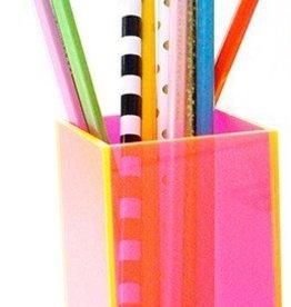 Neon Pink Acrylic Pencil Cup