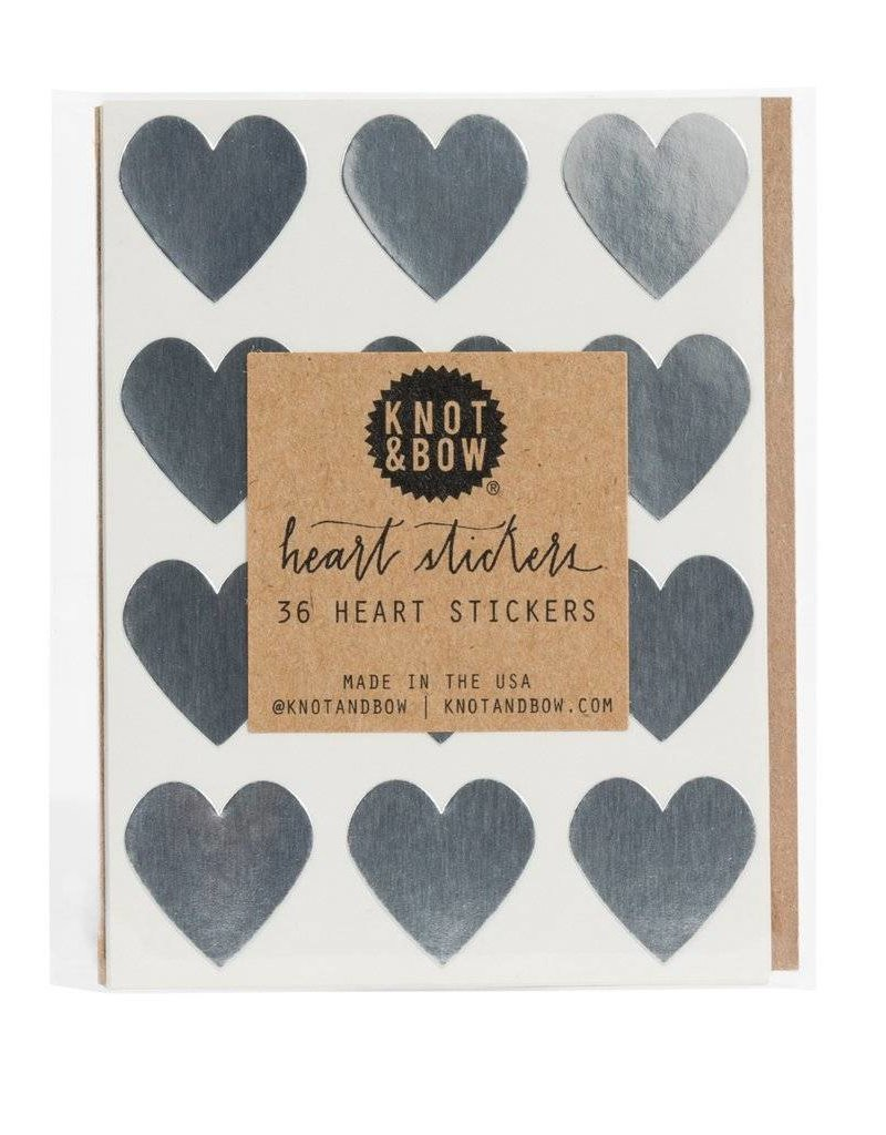 Heart Stickers - Silver