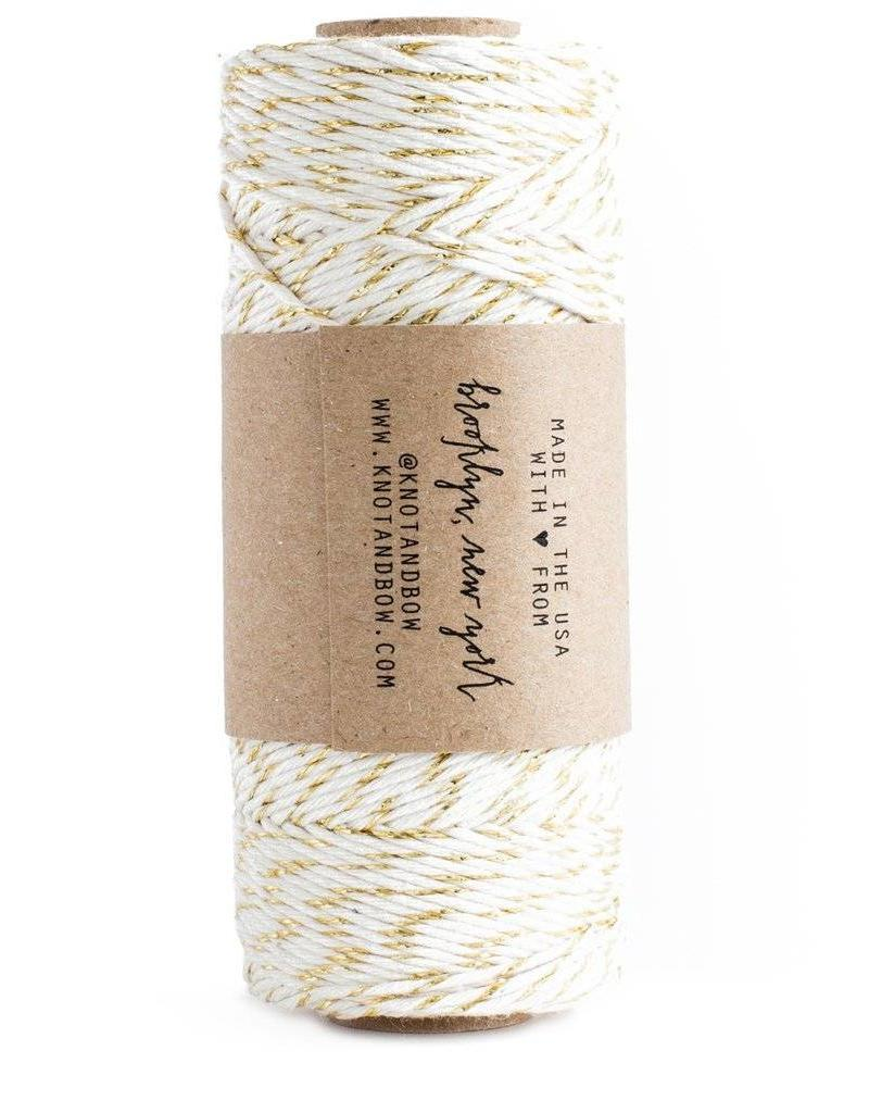 Glitter Twine - Gold/Natural