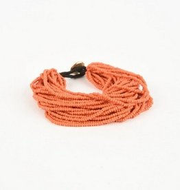 Coral Multi Layer Seed Bracelet
