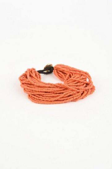 Coral Multi Layer Seed Bracelet