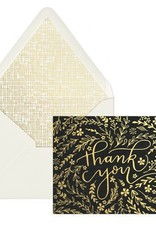 Black Floral Thank You Notecards