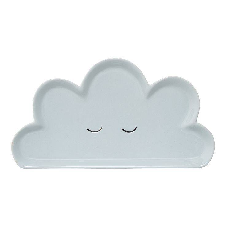 Blue Cloud Ceramic Plate