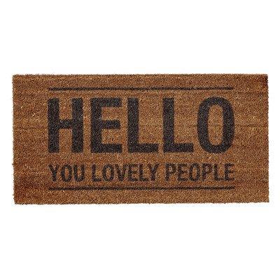 Hello You Lovely People Door Mat