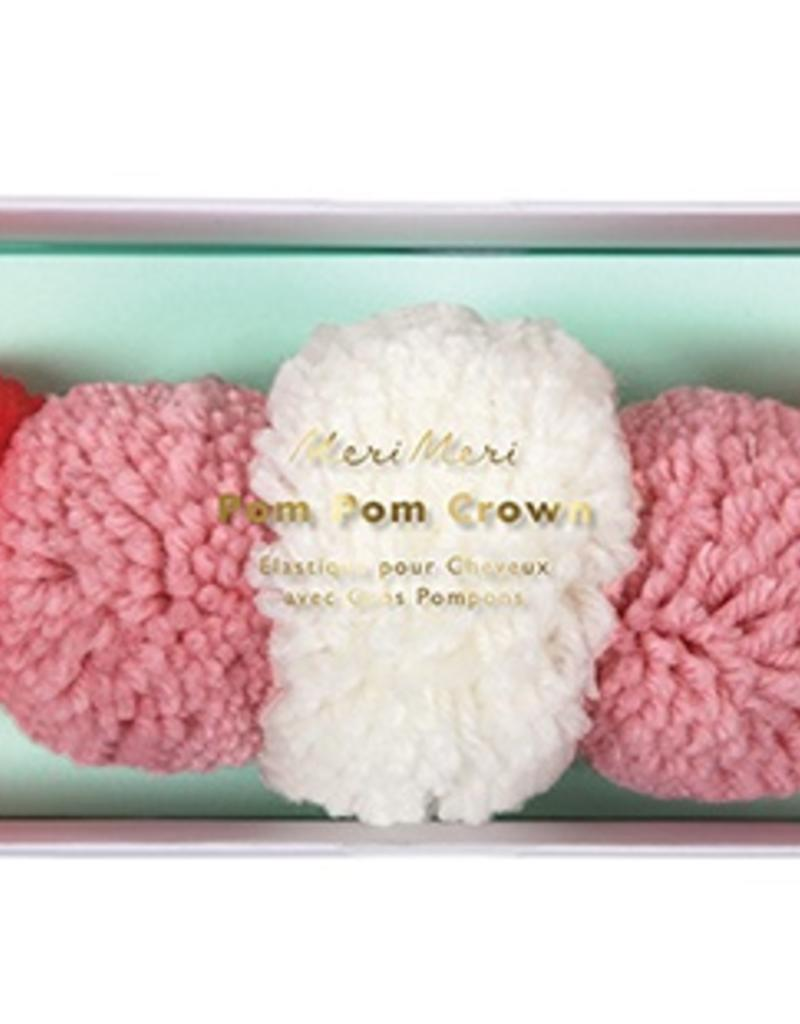 Yarn Pom Pom Crown