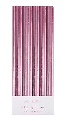 Pink Foil Straws