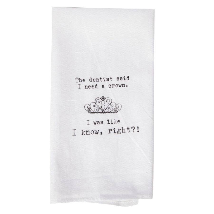 Dentist + Crown Hand Towel